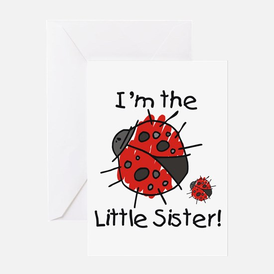 Little Sister Ladybug Greeting Card