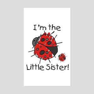Little Sister Ladybug Rectangle Sticker