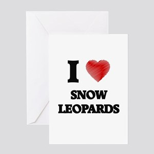 I love Snow Leopards Greeting Cards