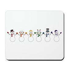 Rainbow Snowpeople Mousepad