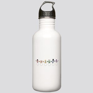 Rainbow Snowpeople Water Bottle