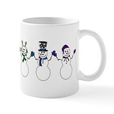 Rainbow Snowpeople Mugs