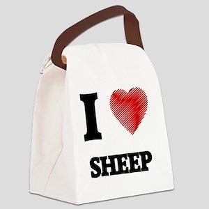 I love Sheep Canvas Lunch Bag