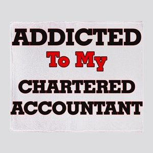 Addicted to my Chartered Accountant Throw Blanket