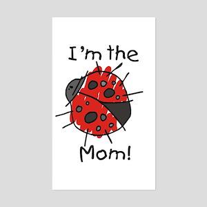 I'm the Mom Ladybug Rectangle Sticker
