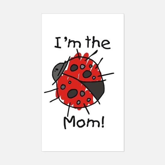 I'm the Mom Ladybug Rectangle Decal