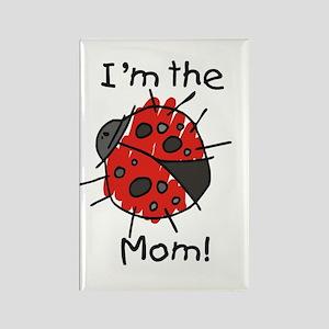 I'm the Mom Ladybug Rectangle Magnet