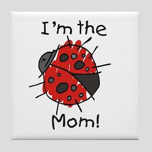 I'm the Mom Ladybug Tile Coaster
