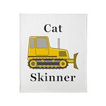 Cat Skinner Throw Blanket