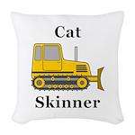 Cat Skinner Woven Throw Pillow