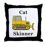 Cat Skinner Throw Pillow