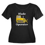 Blade Op Women's Plus Size Scoop Neck Dark T-Shirt