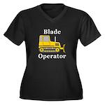 Blade Operat Women's Plus Size V-Neck Dark T-Shirt