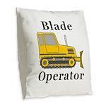 Blade Operator Burlap Throw Pillow