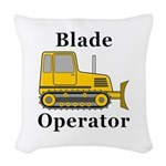 Blade Operator Woven Throw Pillow