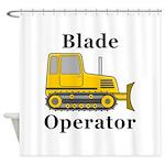 Blade Operator Shower Curtain