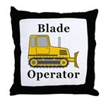 Blade Operator Throw Pillow