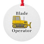Blade Operator Round Ornament
