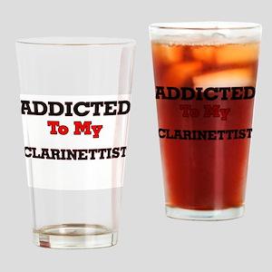 Addicted to my Clarinettist Drinking Glass