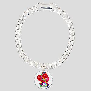 Autism Ribbon Charm Bracelet, One Charm