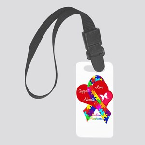 Autism Ribbon Small Luggage Tag