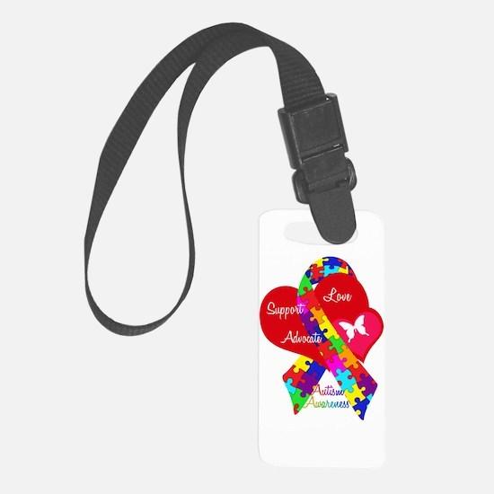 Autism Ribbon Luggage Tag