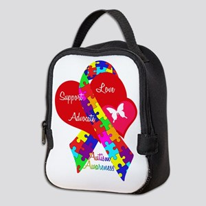 Autism Ribbon Neoprene Lunch Bag