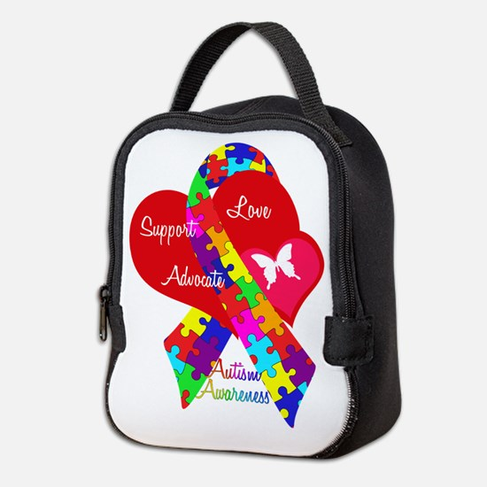 Autism Ribbon Neoprene Lunch Bag