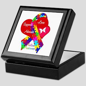 Autism Ribbon Keepsake Box