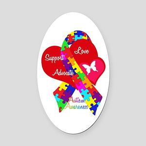 Autism Ribbon Oval Car Magnet