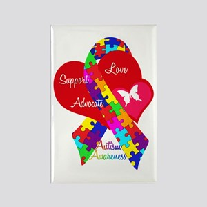 Autism Ribbon Rectangle Magnet