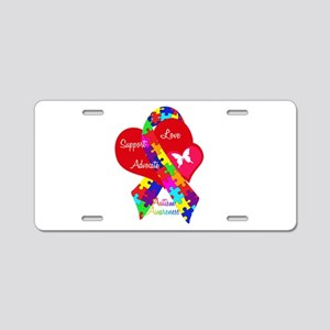 Autism Ribbon Aluminum License Plate