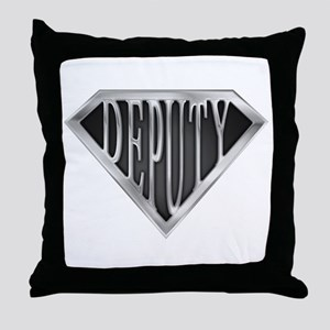 SuperDeputy(metal) Throw Pillow