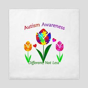 Autism Awareness Tulip Queen Duvet