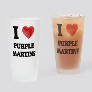 I love Purple Martins Drinking Glass
