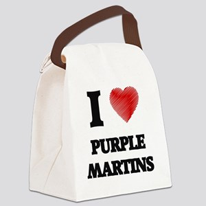 I love Purple Martins Canvas Lunch Bag