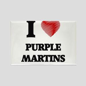 I love Purple Martins Magnets