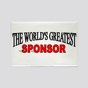 """""""The World's Greatest Sponsor"""" Rectangle Magnet"""