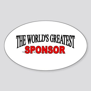 """The World's Greatest Sponsor"" Oval Sticker"