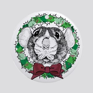 Dumbo Face Wreath Ornament (Round)