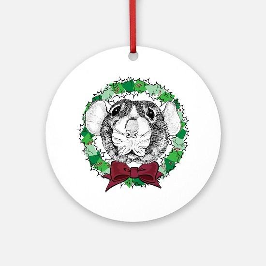 Dumbo Face Wreath Ornament (Round)