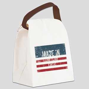 Made in Long Island, Kansas Canvas Lunch Bag