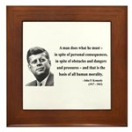 John F. Kennedy 10 Framed Tile