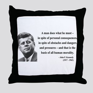 John F. Kennedy 10 Throw Pillow