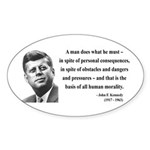 John F. Kennedy 10 Oval Sticker