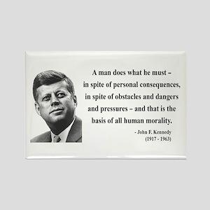 John F. Kennedy 10 Rectangle Magnet