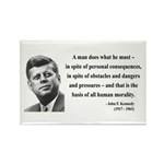 John F. Kennedy 10 Rectangle Magnet (100 pack)