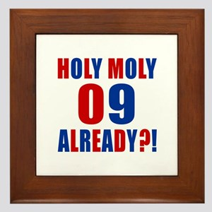 09 Holy Moly Birthday Designs Framed Tile