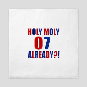 07 Holy Moly Birthday Designs Queen Duvet