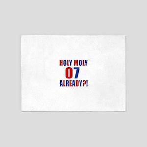 07 Holy Moly Birthday Designs 5'x7'Area Rug